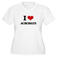I Love Acrobats Plus Size T-Shirt