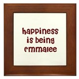 happiness is being Emmalee Framed Tile