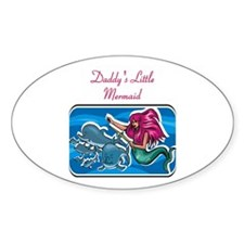 Daddy's Little Mermaid Oval Decal