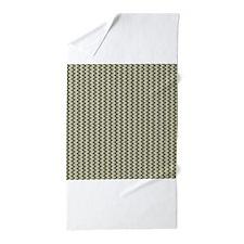 Blue Green Tiny Argyle Diamond Pattern Beach Towel