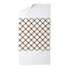 Tan Green White Checkered Argyle Diamond Pattern B