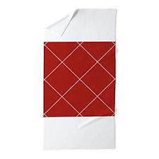 Large Red Checkered Argyle Diamond Pattern Beach T