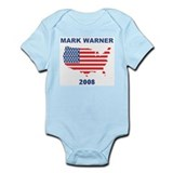 MARK WARNER 2008 (US Flag) Infant Bodysuit