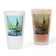 Gone Fishing Drinking Glass