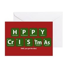 Periodic Happy Christmas Greeting Cards (Pk of 20)