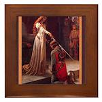 Edmund_blair_leighton_accolade2.png Framed Tile