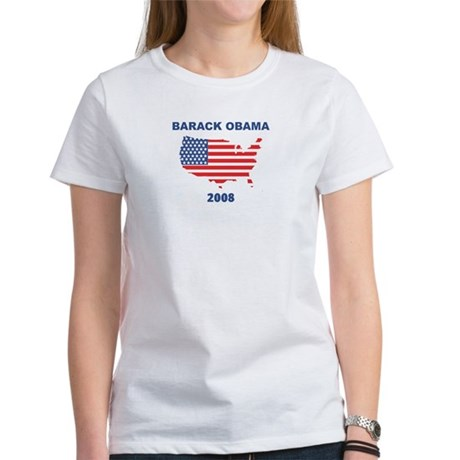BARACK OBAMA 2008 (US Flag) Women's T-Shirt