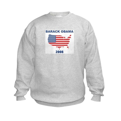 BARACK OBAMA 2008 (US Flag) Kids Sweatshirt