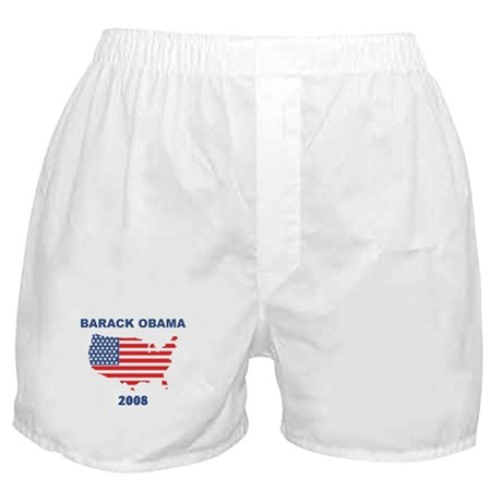 BARACK OBAMA 2008 (US Flag) Boxer Shorts