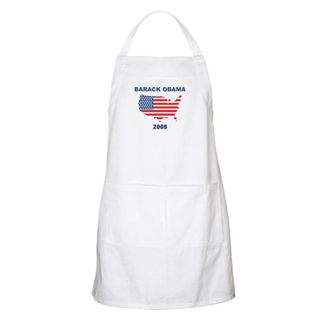 BARACK OBAMA 2008 (US Flag) BBQ Apron