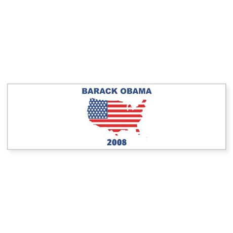 BARACK OBAMA 2008 (US Flag) Bumper Sticker