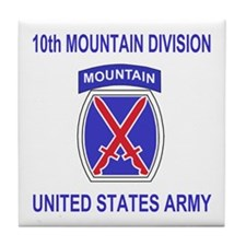 10th Mountain Division<BR>Tile Coaster 1