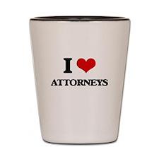 I Love Attorneys Shot Glass