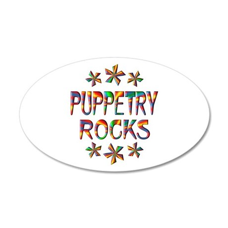 Puppetry Rocks 20x12 Oval Wall Decal