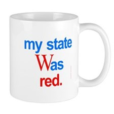 state red Bush Election Voted Mug