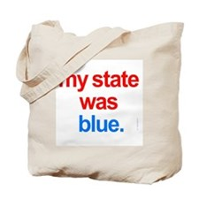 voted democrat kerry blue Tote Bag