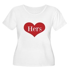 His and Hers red heart Plus Size T-Shirt