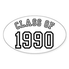 Class of 1990 Oval Bumper Stickers