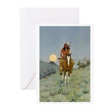Frederick REmington The Outlier Greeting Cards