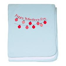 Happy Valentine baby blanket