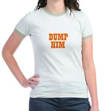 Dump Him Ringer T-shirt