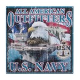 All American Outfitters: Navy Tile Coaster