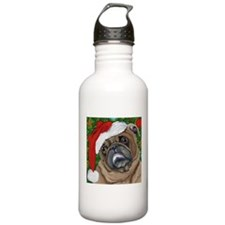 Santa Pug Water Bottle