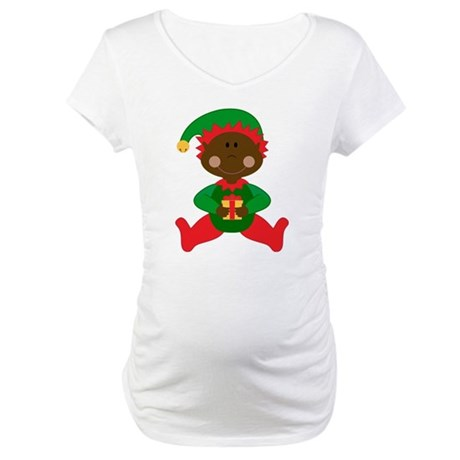 Christmas Elf (ethnic) Maternity T-Shirt