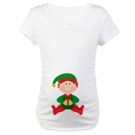 Happy Christmas Elf Maternity T-Shirt