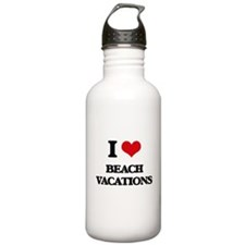 I Love Beach Vacations Water Bottle
