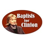 Baptists For Clinton Sticker
