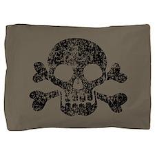 worn-skull_b.png Pillow Sham