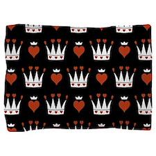 Cute Crown And Heart Pattern Pillow Sham
