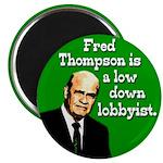 Fred Thompson is a Lobbyist Magnet
