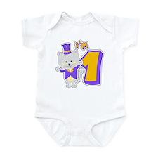 1st Birthday Cat Infant Bodysuit