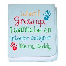 Future Interior Designer baby blanket