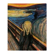 The Scream Throw Blanket