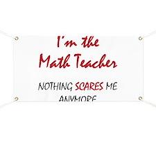Math Teacher Banner