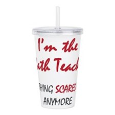 Math Teacher Acrylic Double-wall Tumbler