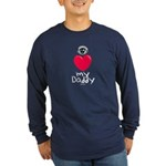 Eye Love DAD Long Sleeve Dark T-Shirt