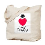 Eye Love DAD Tote Bag