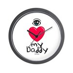 Eye Love DAD Wall Clock