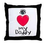 Eye Love DAD Throw Pillow