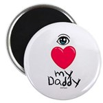 Eye Love DAD Magnet