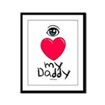 Eye Love DAD Framed Panel Print