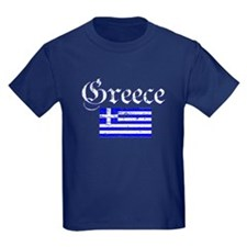 Greek distressed flag T