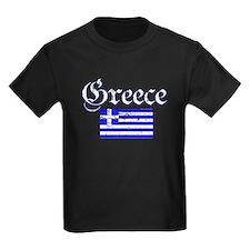 Greek distressed flag T