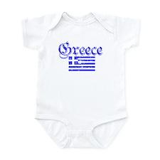 Greek distressed flag Infant Bodysuit