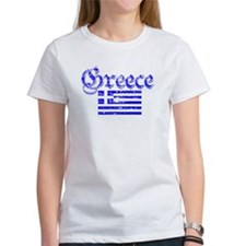 Greek distressed flag Tee