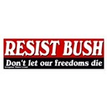Resist Bush Bumper Sticker